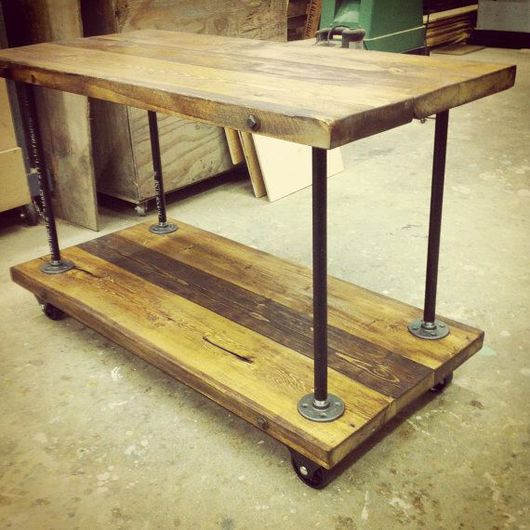 Мебель ручной работы. Ярмарка Мастеров - ручная работа. Купить Журнальный столик на колёсиках. Handmade. Стол, столик журнальный