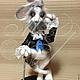 Игрушки животные, ручной работы. Ярмарка Мастеров - ручная работа. Купить Кроль-аристократ. Handmade. Кролик, авторская игрушка