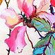 """Картины цветов ручной работы. Картина """"Дикая Роза"""" (холст, масло). ЯРКИЕ КАРТИНЫ Наталии Ширяевой. Ярмарка Мастеров. Картина"""