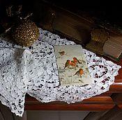 """Винтаж ручной работы. Ярмарка Мастеров - ручная работа Старинные салфетки """" Зимний день"""". Handmade."""