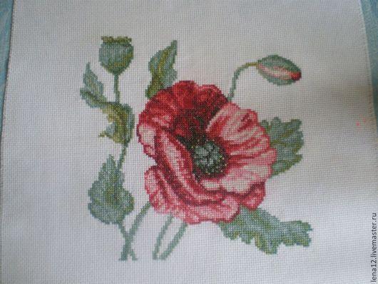 Картины цветов ручной работы. Ярмарка Мастеров - ручная работа. Купить Мак. Handmade. Ярко-красный, мак, цветы