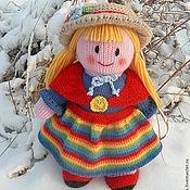 Куклы и игрушки ручной работы. Ярмарка Мастеров - ручная работа Вязаная кукла из шерсти. Анфиса с грибами. Handmade.