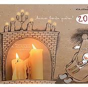 Подарки к праздникам ручной работы. Ярмарка Мастеров - ручная работа Календарь настенный 2017 г.. Handmade.
