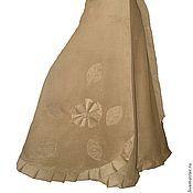 Одежда ручной работы. Ярмарка Мастеров - ручная работа Юбка длинная вельветовая с запАхом горчичного цвета. Handmade.