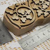 Материалы для творчества ручной работы. Ярмарка Мастеров - ручная работа штамп деревянный арт. 10501. 150х40мм. Handmade.