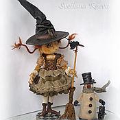 Куклы и игрушки ручной работы. Ярмарка Мастеров - ручная работа Зимняя ведьмочка Амбер. Коллекционная кукла. Handmade.