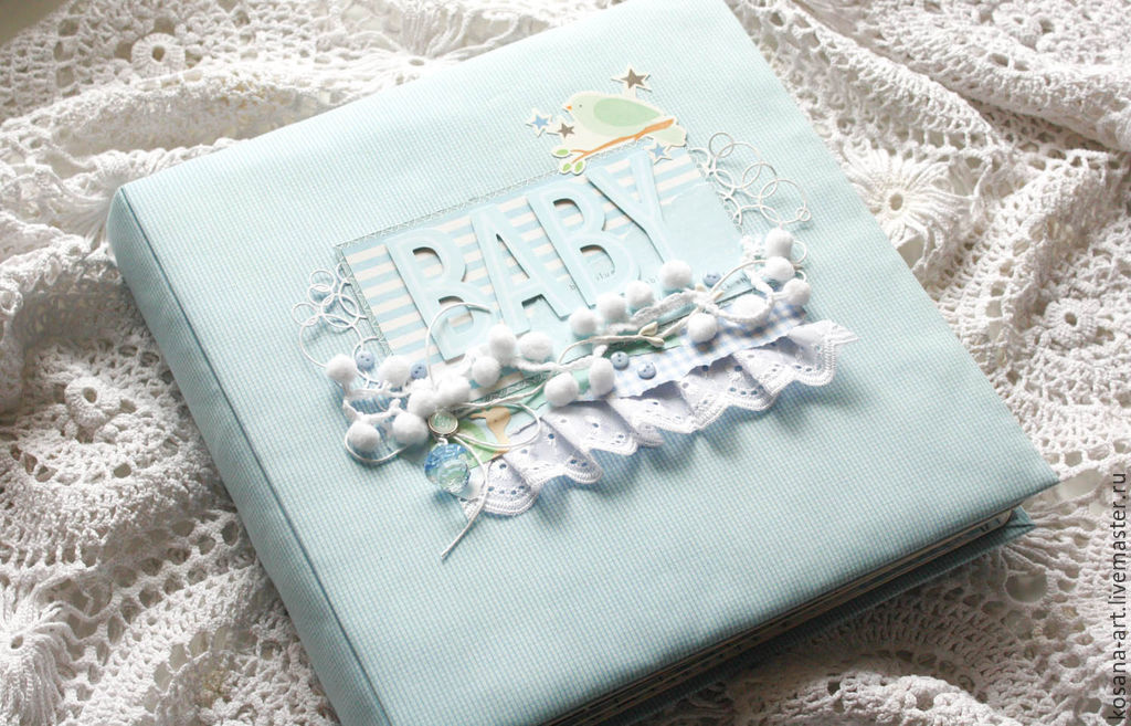 Photo Albums handmade. Livemaster - handmade. Buy Album for kid BABY.Blue, gift for a child