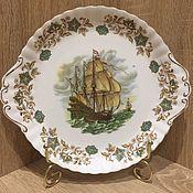 Винтаж ручной работы. Ярмарка Мастеров - ручная работа Блюдо с кораблем, Англия. Handmade.