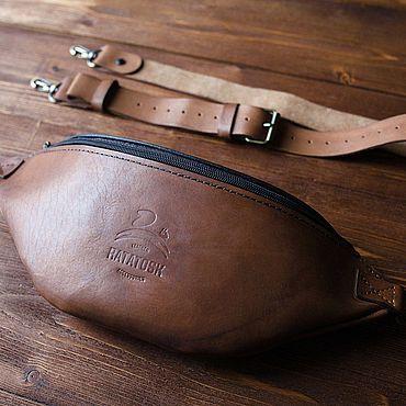 Bags and accessories handmade. Livemaster - original item Bag men`s shoulder leather - Monolit-Bizon. Handmade.
