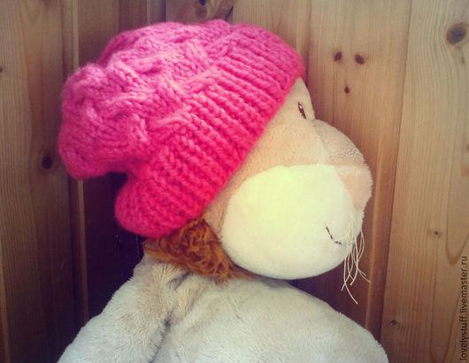 Шапки ручной работы. Ярмарка Мастеров - ручная работа. Купить Шапка женская. Handmade. Розовый, шапка на весну, шапка женская