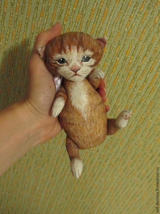 """Куклы и игрушки ручной работы. Ярмарка Мастеров - ручная работа. Купить Котёнок """"Мамино солнышко"""". Handmade. Рыжий, краски по ткани"""