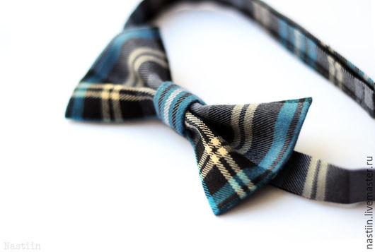 Галстуки, бабочки ручной работы. Ярмарка Мастеров - ручная работа. Купить Нарядный галстук-бабочка в клеточку. Handmade. Бабочка-галстук