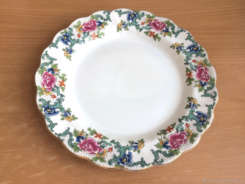 Винтаж: Большая тарелка, красивое блюдо Floradora от Booths, Англия, Тарелки винтажные, Москва,  Фото №1