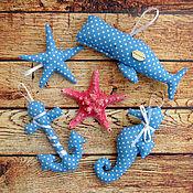 """Куклы и игрушки ручной работы. Ярмарка Мастеров - ручная работа Набор """"Тильда"""" морские игрушки. Handmade."""
