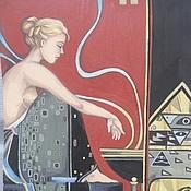Картины и панно ручной работы. Ярмарка Мастеров - ручная работа Сакральный огонь (копия М.Паркеса). Handmade.