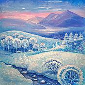 Картины и панно ручной работы. Ярмарка Мастеров - ручная работа Нетронутая зима. Handmade.