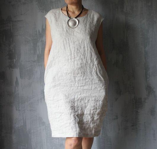 Платья ручной работы. Ярмарка Мастеров - ручная работа. Купить Итальянское платье из натурального льна. Льняное платье.. Handmade. на курорт