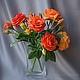 Цветы ручной работы. Ярмарка Мастеров - ручная работа. Купить розы английского сада (флористические полимерные глины). Handmade. Рыжий