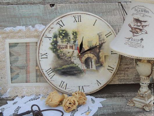 часы в технике декупаж для Вашей кухни, замечательный душевный подарок.