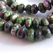 Beads1 handmade. Livemaster - original item Ruby zoisite roundels cut. Handmade.
