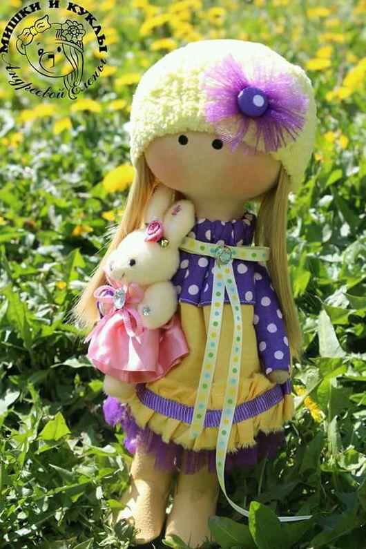 Куклы тыквоголовки ручной работы. Ярмарка Мастеров - ручная работа. Купить Интерьерная текстильная кукла Аленушка. Handmade. Кукла