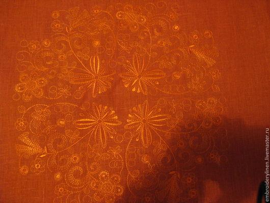 """Текстиль, ковры ручной работы. Ярмарка Мастеров - ручная работа. Купить Льняная скатерть """"грезы о лете"""". Handmade. Рыжий"""
