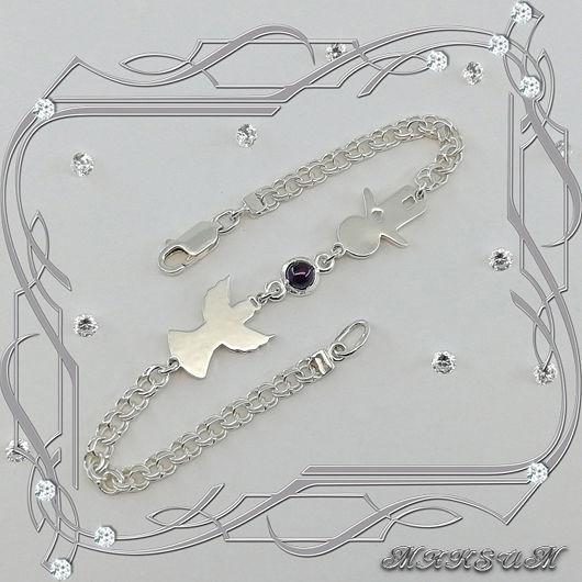 Bracelet 'angel Boy' 925 silver, amethyst, Bracelets, St. Petersburg, Фото №1