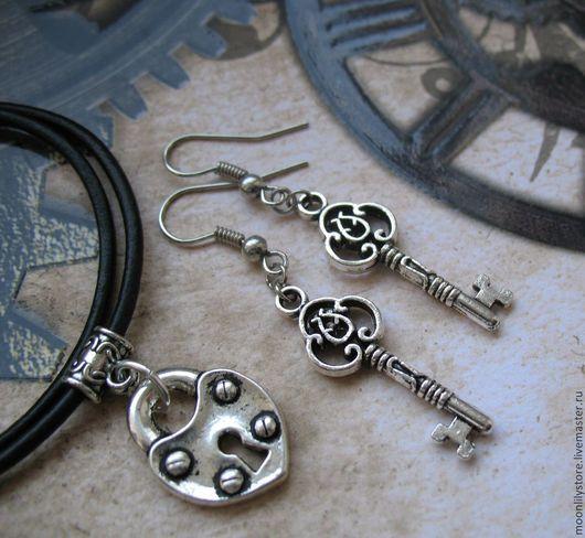 Комплекты украшений ручной работы. Ярмарка Мастеров - ручная работа. Купить Комплект Keys to the Heart (Ancient Silver). Handmade.