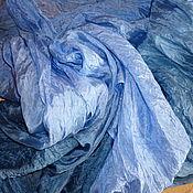 """Аксессуары ручной работы. Ярмарка Мастеров - ручная работа Батик шарф """" Под джинсы"""" , натуральный шёлк , 110-160 см.. Handmade."""