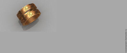 Боги Древней Руси ручной работы. Ярмарка Мастеров - ручная работа. Купить Обручальные кольца Коловрат. Handmade. Серебряный