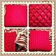 Текстиль, ковры ручной работы. Ярмарка Мастеров - ручная работа. Купить Уютный дом_подушка. Handmade. Ярко-красный, вязанная, подушка