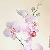"""Картины и панно ручной работы. Ярмарка Мастеров - ручная работа Акварели """"Орхидеи"""". Handmade."""