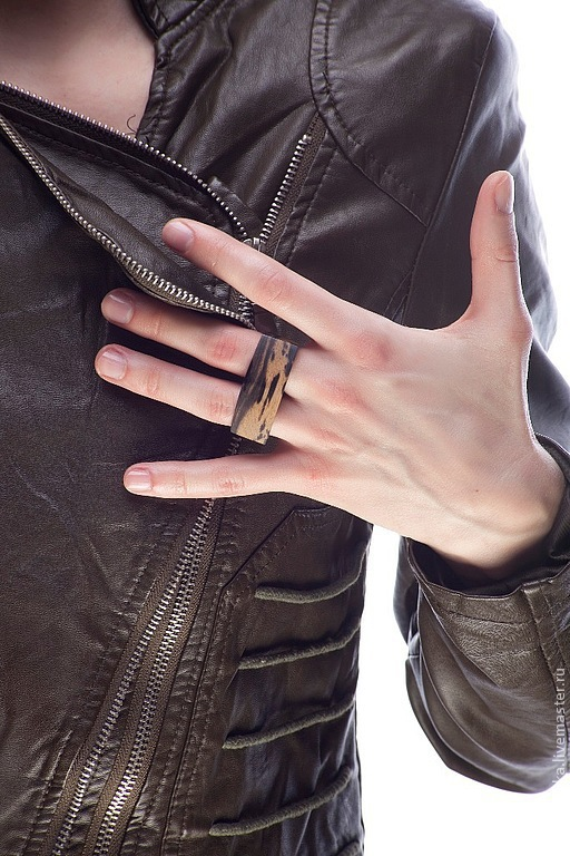 """Кольца ручной работы. Ярмарка Мастеров - ручная работа. Купить Кольцо из дерева """"Кастет"""". Handmade. Коричневый, кольцо на два пальца"""