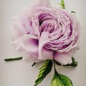Украшения handmade. Livemaster - original item Silk flowers Brooch Lilac Dawn. Handmade.