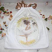Одежда ручной работы. Ярмарка Мастеров - ручная работа Девушка-Весна и гнездышко. Мешочек для хранения белья. Handmade.