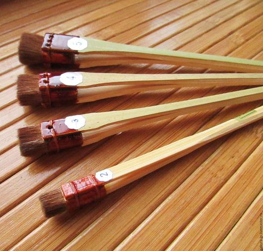 Японские кисти для шелковой флористики, кубические № 2, 3 4, 5. САКУРА - материалы для цветоделия.