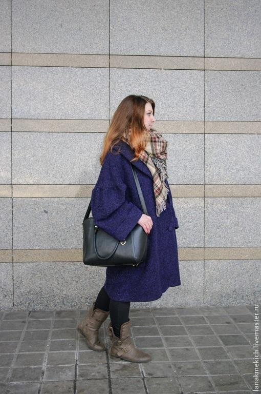 """Верхняя одежда ручной работы. Ярмарка Мастеров - ручная работа. Купить пальто """"Богемный шик"""". Handmade. Тёмно-синий"""