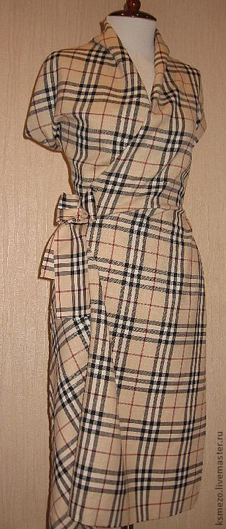 """Платья ручной работы. Ярмарка Мастеров - ручная работа. Купить Платье """"барбери"""" классика пастельный. Handmade. Бежевый, платье женское"""