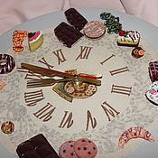 """Для дома и интерьера ручной работы. Ярмарка Мастеров - ручная работа Часы настенные для сладкоежек """" Время десерта""""(часы кухонные). Handmade."""