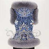 """Одежда ручной работы. Ярмарка Мастеров - ручная работа Жилет с капюшоном """"Морозко-6"""" с натуральным мехом серого песца. Handmade."""