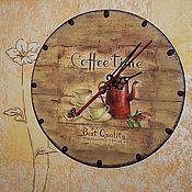 """Для дома и интерьера ручной работы. Ярмарка Мастеров - ручная работа Часы """"Время пить кофе"""". Handmade."""