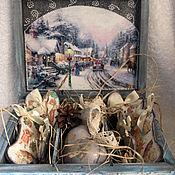 Подарки к праздникам ручной работы. Ярмарка Мастеров - ручная работа Новогодняя шкатулочка с игрушками. Handmade.