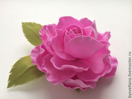 """Броши ручной работы. Ярмарка Мастеров - ручная работа. Купить Цветы из фоамирана. Брошь-заколка """"Розочка"""". Handmade. Брошь"""