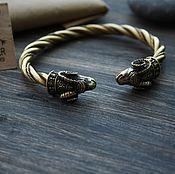 Braided bracelet handmade. Livemaster - original item Bronze braided bracelet - Aries. Handmade.