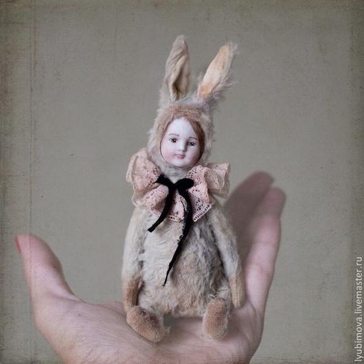 Мишки Тедди ручной работы. Ярмарка Мастеров - ручная работа. Купить Мятный кролик. Handmade. Тедди, вискоза