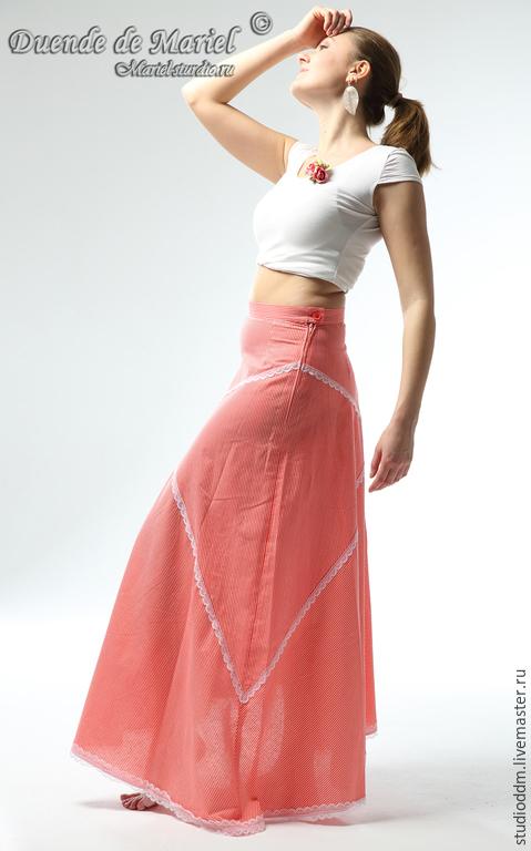 Летняя юбка. Идеально подойдет девушкам, одевающимся просто, элегантно и с `изюминкой`. Жаркое лето будет красивым!