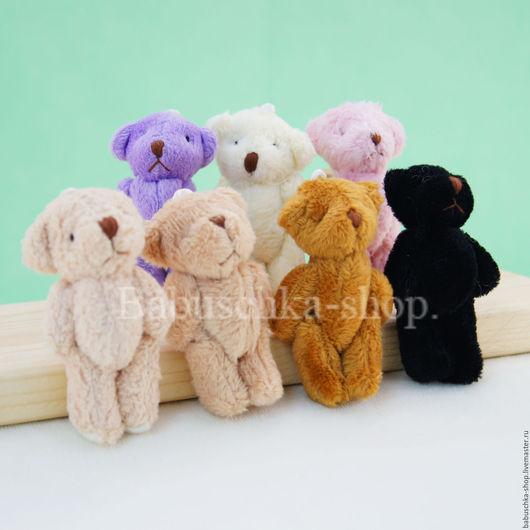 Куклы и игрушки ручной работы. Ярмарка Мастеров - ручная работа. Купить Мишка для куклы, 6 см. Handmade. Разноцветный