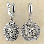 Фен-шуй и эзотерика handmade. Livemaster - original item Abundance Wave earrings with a svadebnik. Handmade.
