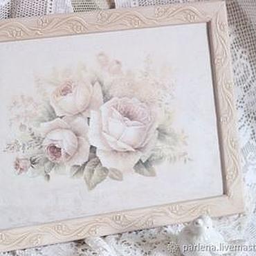 Для дома и интерьера ручной работы. Ярмарка Мастеров - ручная работа Рама для фото картины вышивки Шепот роз. Handmade.
