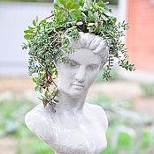Для дома и интерьера handmade. Livemaster - original item Bust of girl Teresa with planters in head Vintage garden aged decor. Handmade.